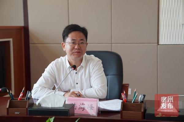 生态文明贵阳国际论坛新闻中心执行总监陆海峰主持本次吹风会